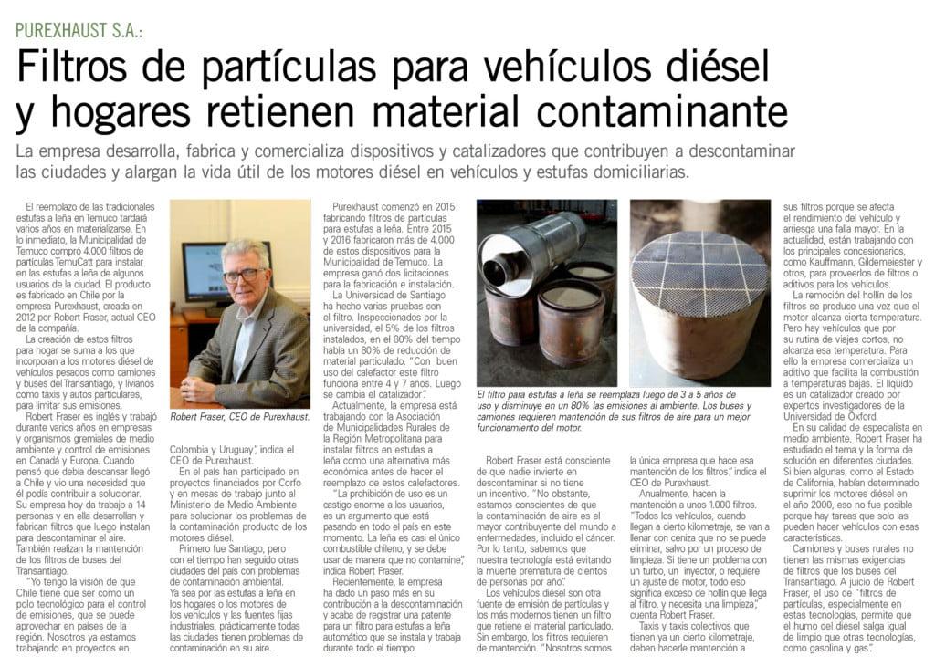 El Mercurio publicó un artículo sobre nosotros 2